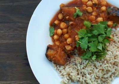 Aubergine & Chickpea Curry Recipe
