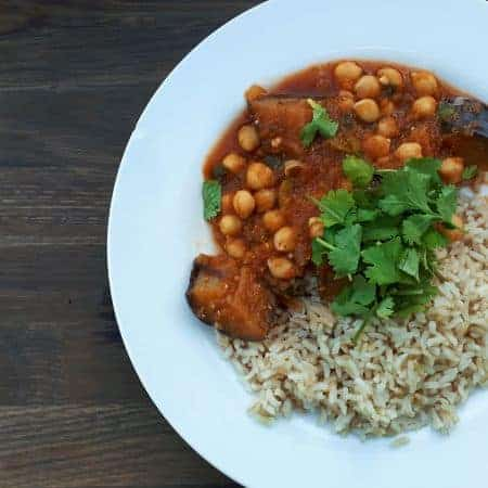 Aubergine & Chickpea Curry Recipe