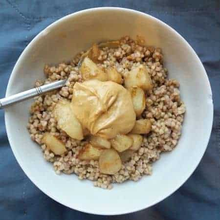 Buckwheat & Spiced Pears
