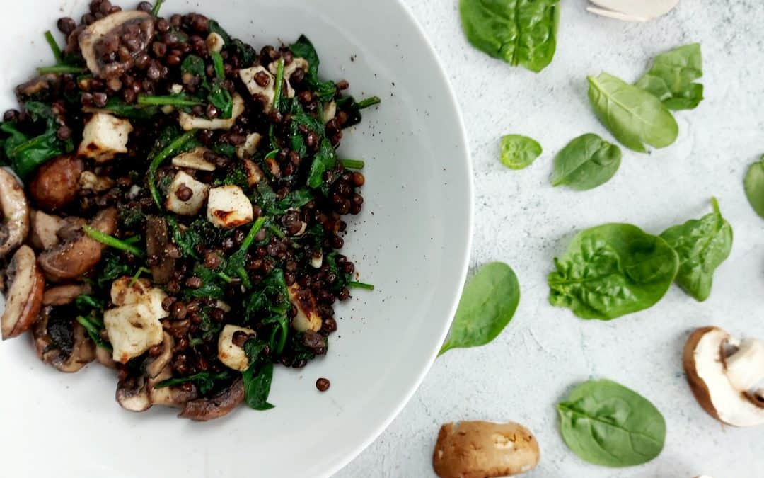 Lentils & Spinach – Fibre Rich Five Minute Healthy Lunch