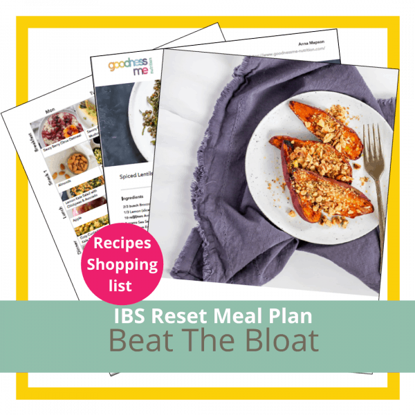 IBS Reset Meal Plan - images of food